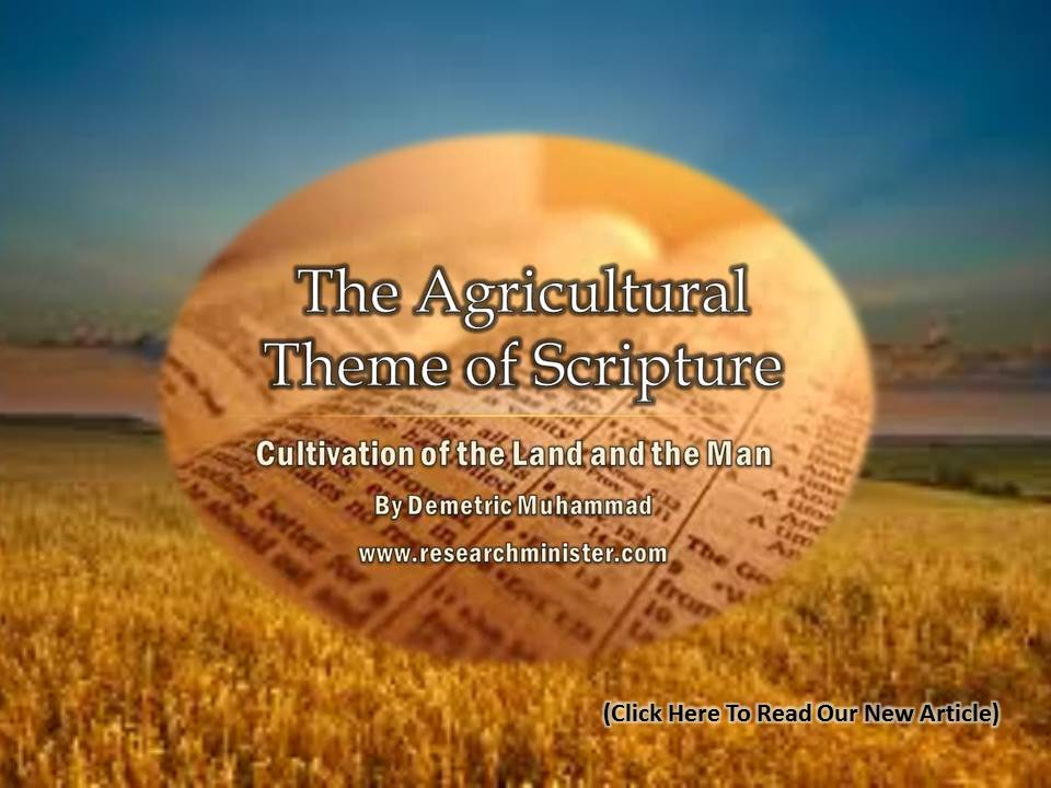 Agricultural theme of scripture
