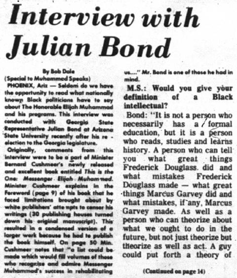 Julian bond interview